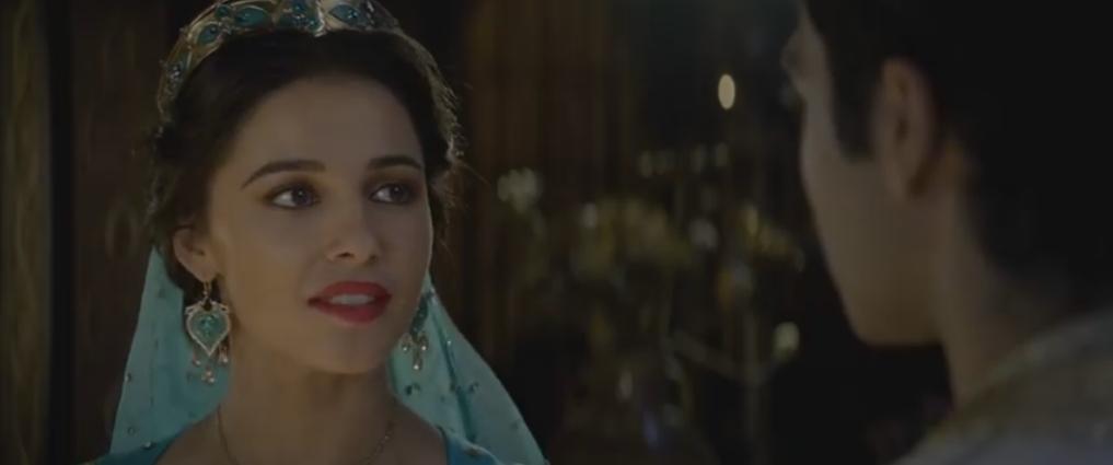 Jasmine played by Naomi Scott