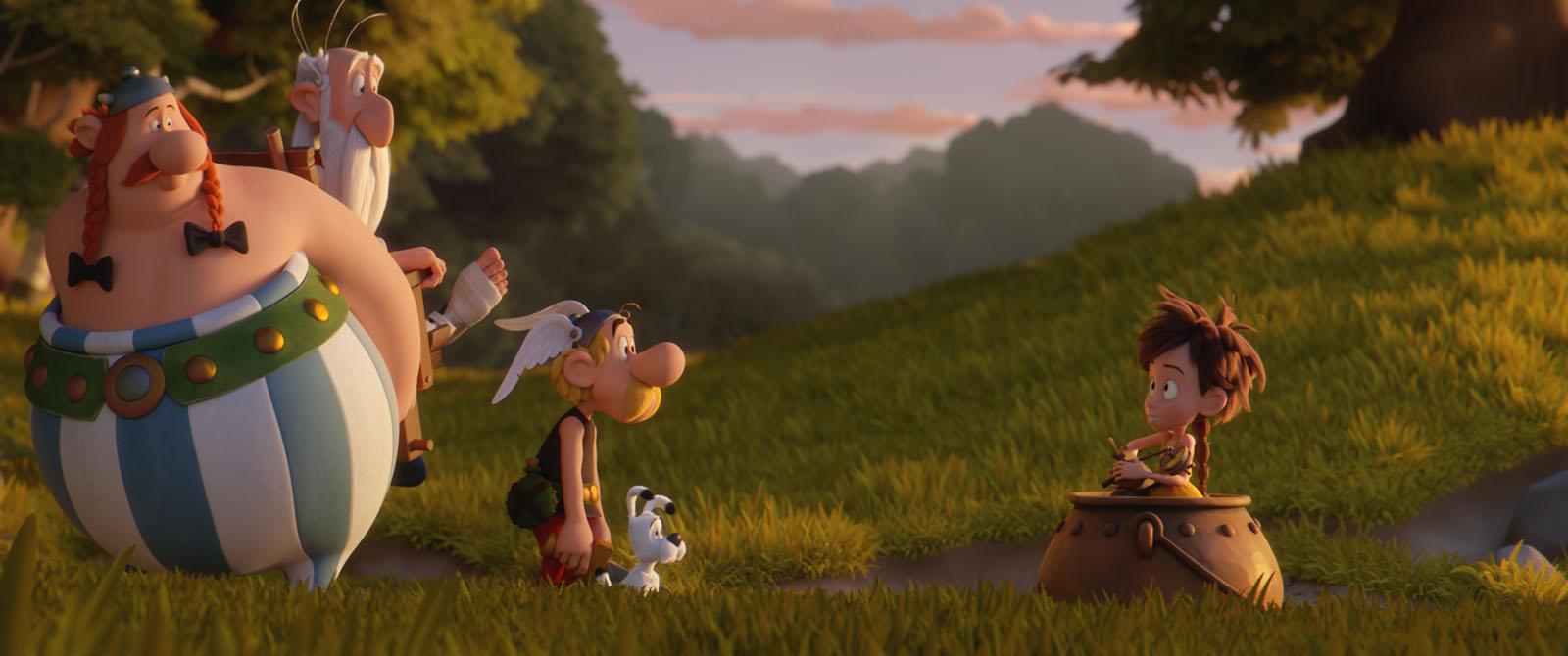 Obelix, Panoramix, Asterix 및 젊은 Pectin