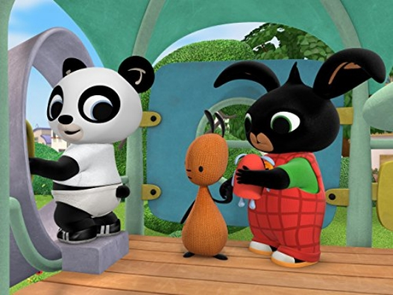 Immagine di Bing, Pando e Flop nella casetta dei giochi di Bing