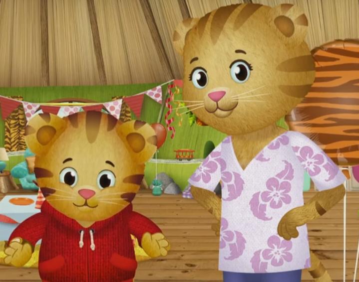 Daniel Tiger con su madre