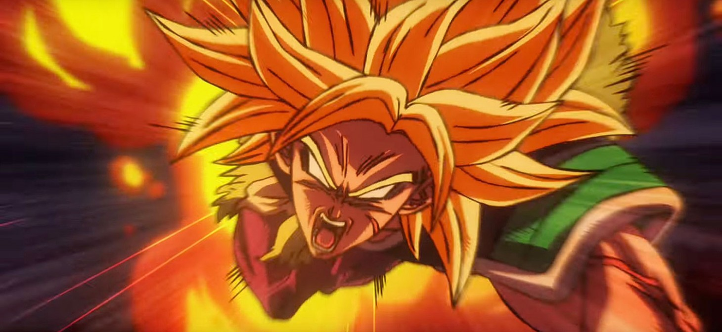 Broly all'attacco