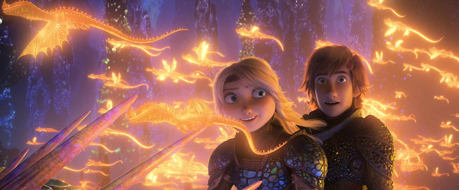 Hiccup Horrendous and Astrid Hofferson - Dragon Trainer The hidden world