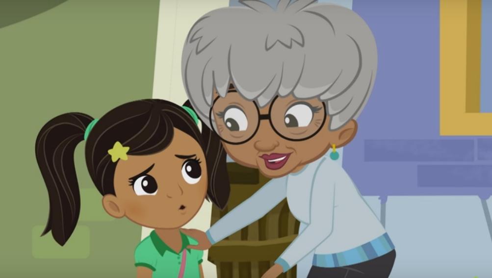 Nina con su abuela Abuelita Yolie