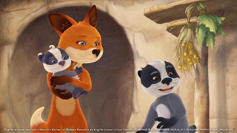 狐狸夫人与莓果和侦察员-Volpitassi家庭