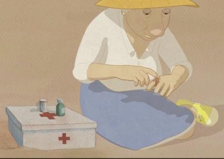 루이스는 부상을 치료할 응급실 사례를 찾습니다.