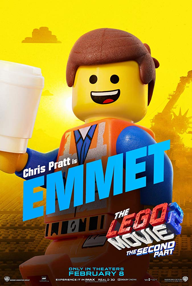 Emmet is the protagonist of The Lego Movie 2: A New Adventure