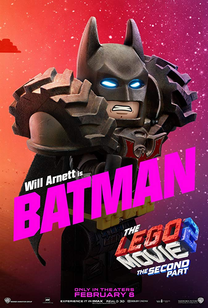 Batman is voiced by Claudio Santamaria - The Lego Movie 2: A New Adventure