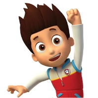 Stampo in silicone del viso dei paw patrol chase marshall