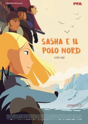 사샤와 북극의 이탈리아 포스터