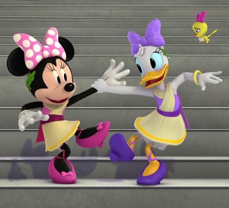 Taniec kaczki Minnie i Daisy