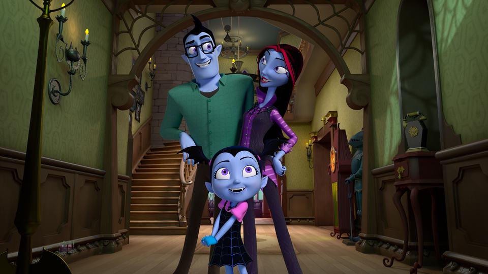 Vampirina com seus pais