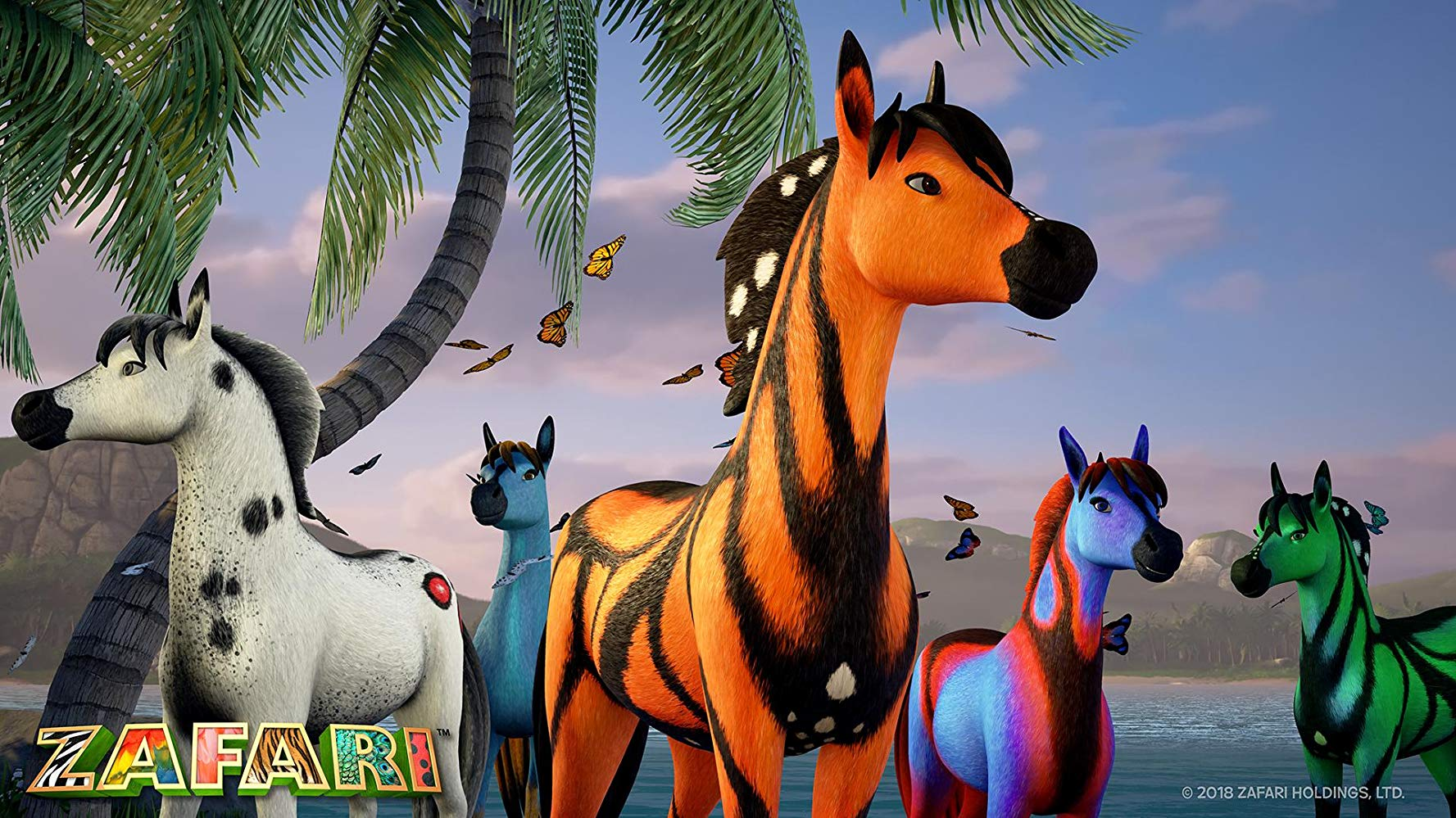 Zafari - lulu perhonen hevonen