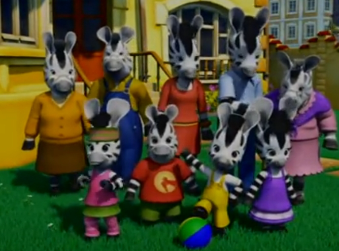 Peppa pig cartone animato famiglia di peppa pig zoe zebra