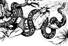 Tarzan luta com a cobra