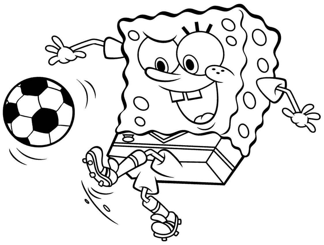 Kolorowanki Spongebob Kanciastoporty Calciatore