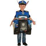 1b2dd38fe65e Altra variante del costume a maschera per carnevale o per le feste di Chase  il cane poliziotto dei cuccioli Paw Patrol, questa volta comprende l'auto  della ...