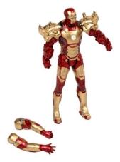 Åtgärdsfigur Iron Man som ska monteras