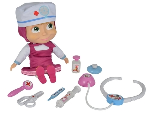 Simba 109306542 - Masha Doctor Doll, 30 cm