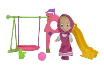 Simba 109301816 - Masha con parque infantil, 12 cm