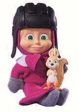 Muñeca Masha con casco y ardilla 12 cm.