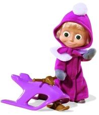 Muñeca Masha con trineo 12 cm.