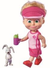 Muñeca deportiva Masha con conejo 12 cm.