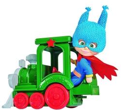 Muñeca superhéroe Masha con tren de juguete 12 cm