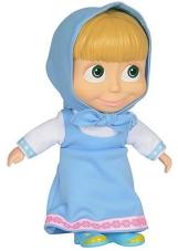 Vestido azul claro de cuerpo suave de Simba Masha y la muñeca oso