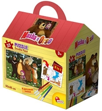 Masha and the Bear - Puzzle, 35 Pieces, Small House with Markers