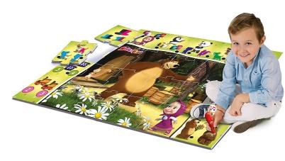 Clementoni 13355 - Masha and the Bear Giant Interactive Carpet