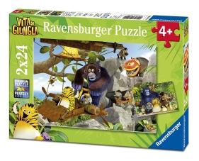 Ravensburger Italie 07805 9 - Puzzle de la vie dans la jungle: à la rescousse! 2 x 24 pièces