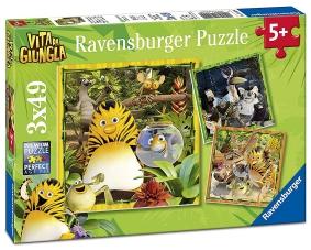 Puzzle de la vie dans la jungle: sauvetage! 3 x 49 pièces
