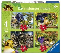Puzzle de la vie dans la jungle: sauvetage! 4 dans une boîte