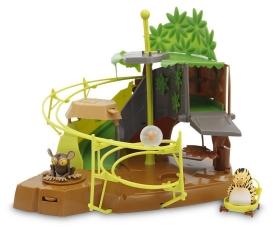 Jungle Life Playset Game The Secret Den avec 3 personnages, 28 cm