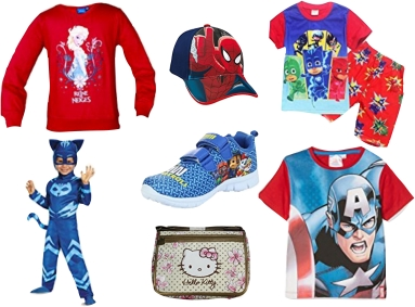 Kinderkleding met stripfiguren