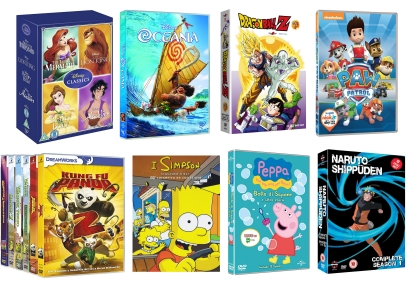 Dvd-tekenfilms en animatiefilms