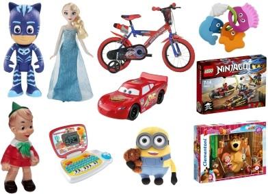 Speelgoed met stripfiguren