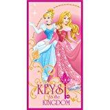 PRI 1011 TELO Mare Principesse Aurora Biancaneve Aurora Cenerentola Asciugamano Disney in MICROCOTONE CM 137X67