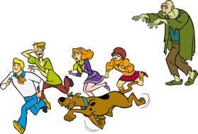Freddy, Shaggy, Dafne, Velma e Scooby Doo inseguiti dallo zombie
