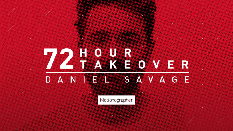 NOVITÀ: Daniel Savage sta conquistando Instagram di Motionographer per 72 ore! Sabato – lunedì!