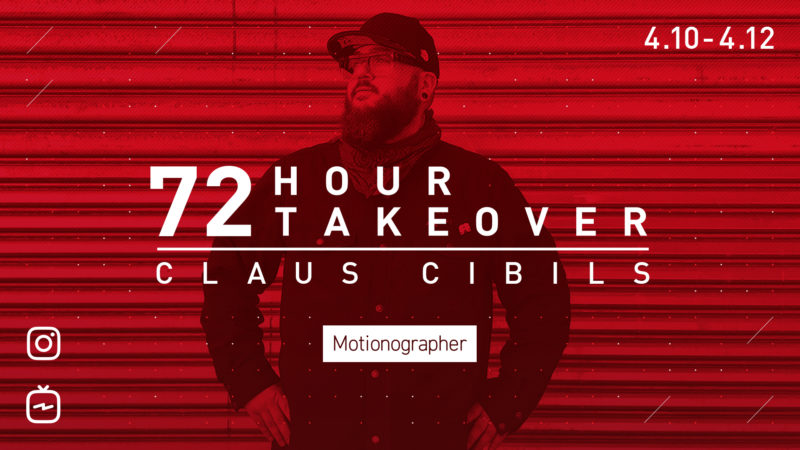 NOVITÀ: il produttore di motionografi Claus Cibils sta rilevando il nostro account IG!
