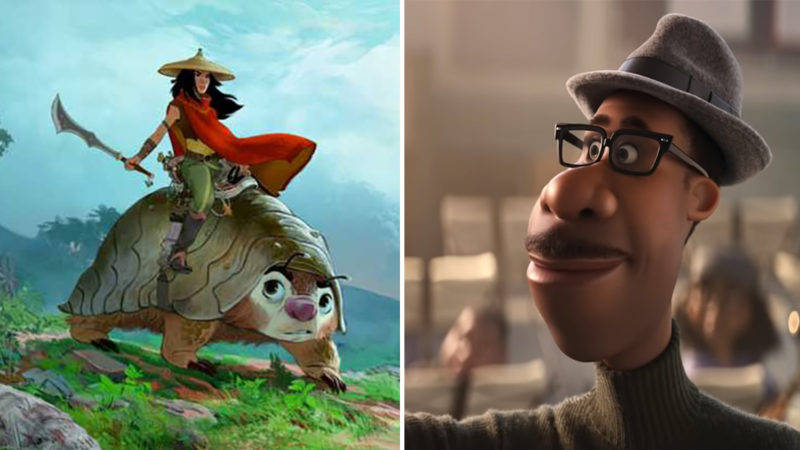 'Soul' di Pixar e 'Raya And The Last Dragon' di Disney Animation