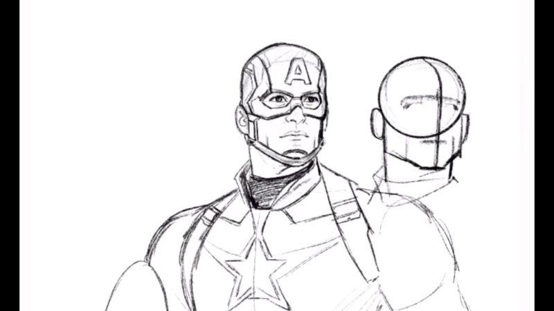 Impariamo a disegnare Captain America