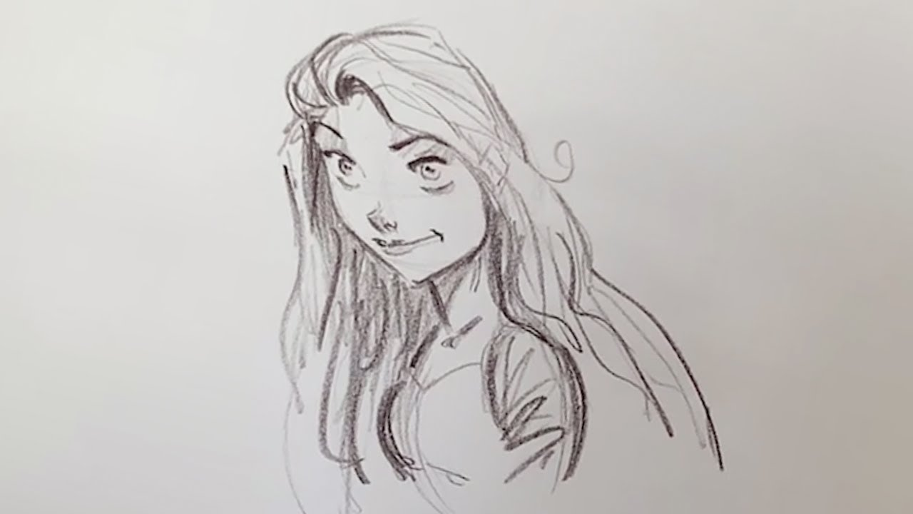 Impariamo a disegnare Rapunzel