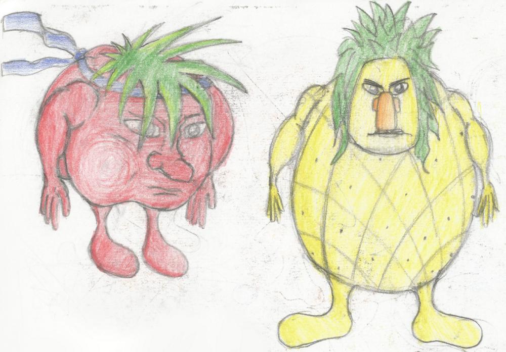 Manuel Lopez disegno di frutti
