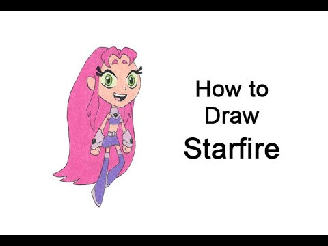 How to draw Stella Rubia (Teen Titans Go!)