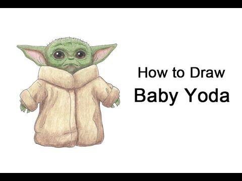 كيفية رسم Baby Yoda من Il Mandaloriano