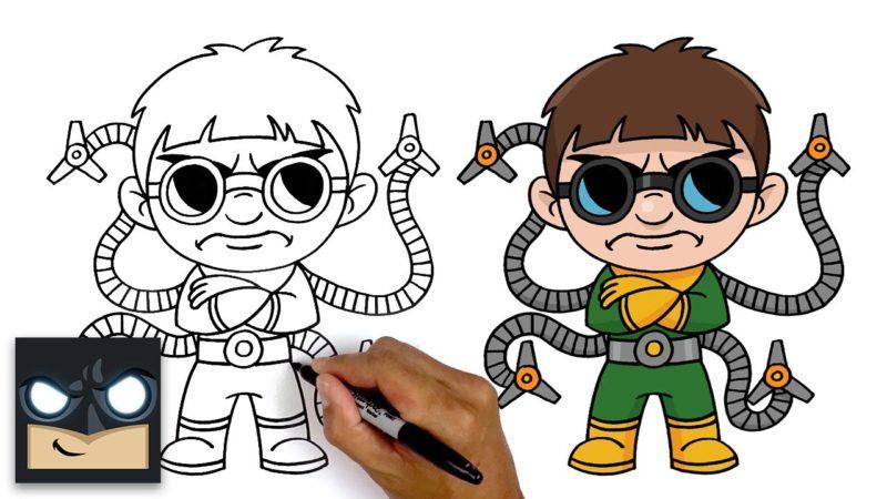 Come disegnare Doctor Octopus passo passo