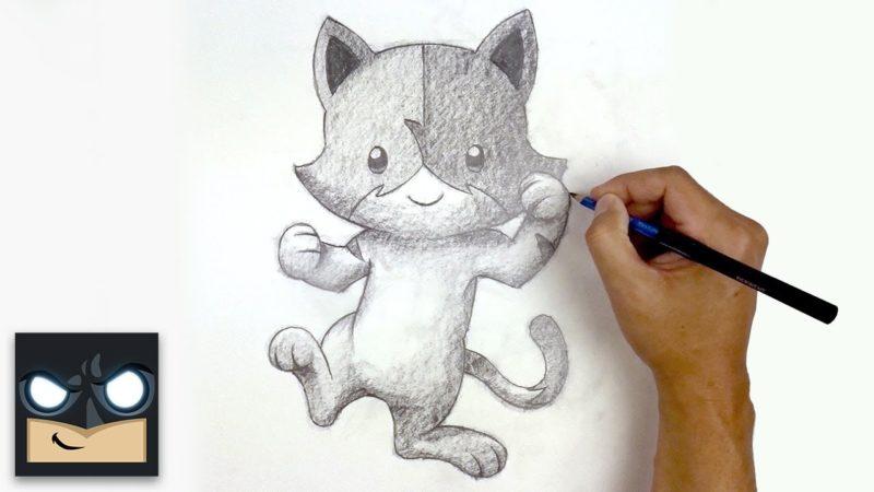 새끼 고양이를 그리는 방법