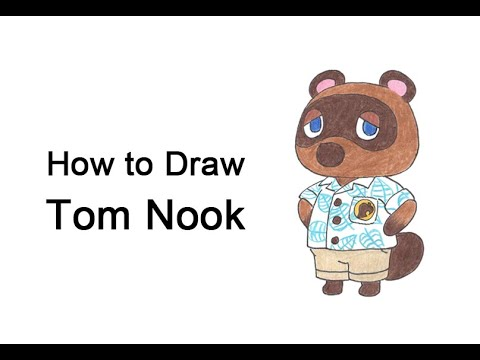 Come disegnare Tom Nook da Animal Crossing